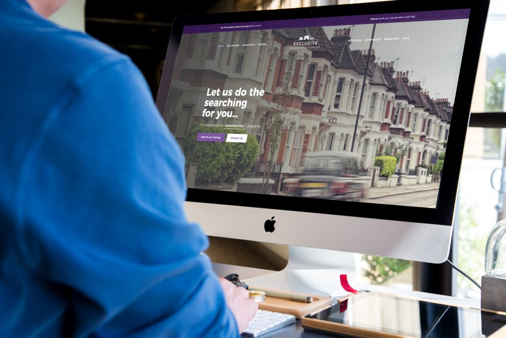 Property estate agency web design featured image