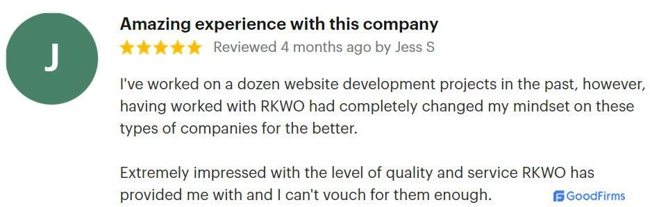 A review by Jess for RKWO